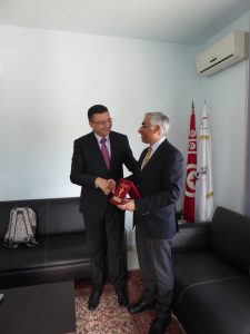 Meeting Chawki Gaddes, President of the National Authority for the Protection of Personal Data, Tunisia