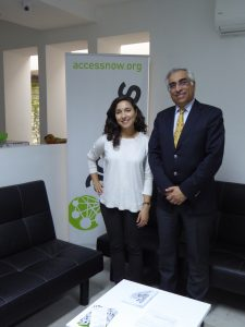 Meeting Wafa Ben Hassine, MENA Policy Analyst
